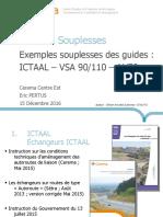 2 - Souplesses des guidess ICTAAL - VSA - AU70 - papier