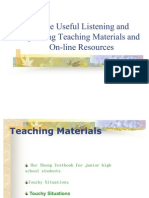 listening and speaking teaching materials and on-line resources