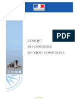 UE 500 - LEXIQUE DU CONTROLE INTERNE COMPTABLE