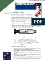 Pneu-Hydro Products' Sand Probe Valves