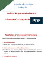Cours 3 Résolution dun Programme Linéaire