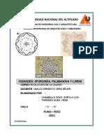 CIUDAD DE SFORZINDA, PALMANOVA Y LORINI
