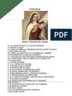 Poesias - Santa Teresita de Jesus