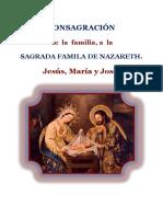 CONSAGRACIÓN de la famila a la SAGRADA FAMILIA DE NAZARETH