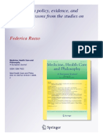 Public health policy evidence and causation