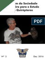 Boletim sociedade Brasileira para Estudo de Quirópteros - 2016
