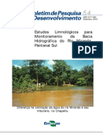 Estudos Limnológicos para Monitoramento da Bacia Hidrográfica do Rio Miranda, Pantanal Sul Diferença