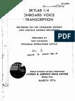Skylab 1/4 Onboard Voice Transcription Vol 1 of 6