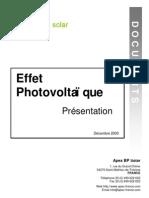 Effet Photovoltaique
