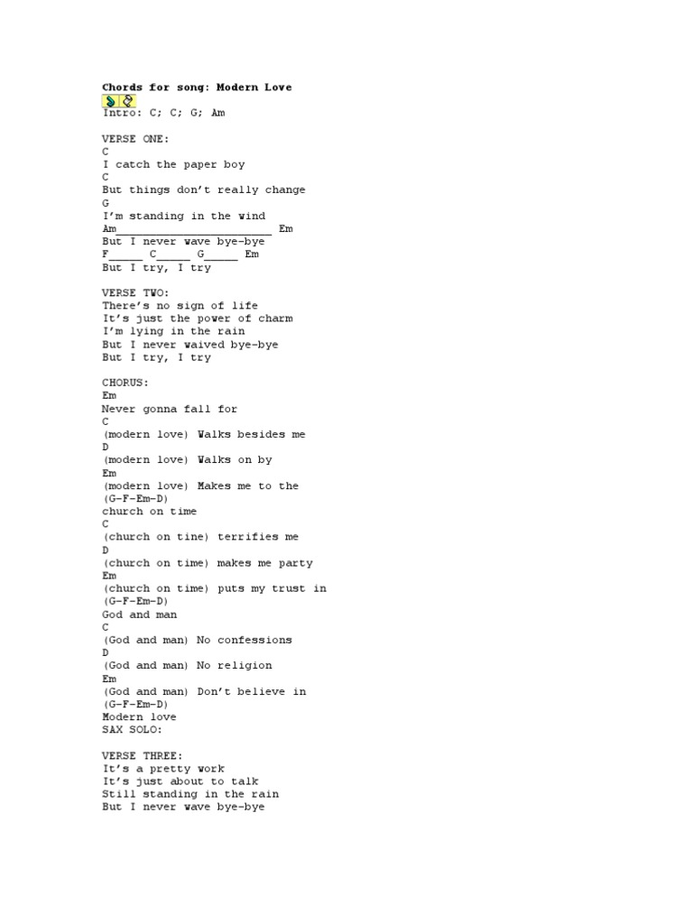 Chords For Song Song Structure Leisure