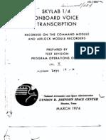 Skylab 1/4 Onboard Voice Transcription Vol 2 of 6