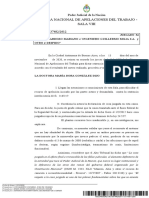 Jurisprudencia 2020 ART c m c Ingeniero Guillermo Milia Sa y Otro s Despido