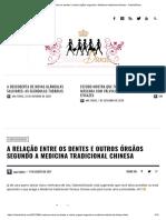 A relação entre os dentes e outros órgãos segundo a Medicina tradicional chinesa - OdontoDivas