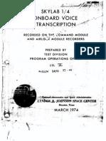 Skylab 1/4 Onboard Voice Transcription Vol 3 of 6