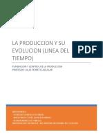 La produccion y su evolucion (linea del tiempo)