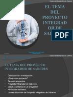Proyecto Integrador de Saberes_ El Tema