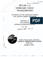 Skylab 1/4 Onboard Voice Transcription Vol 4 of 6