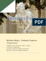 Michael Maier. Atalanta Fugiens (Epigramas)
