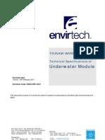 20003-SPE-100.0 - Envirtech Tsunami Warning System - Underwater Module Specifications