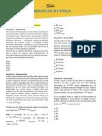 Lista de Física - Exercícios Obrigatórios