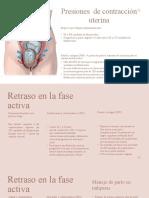 Exposición obstetricia Contracciones uterinas, maniobras