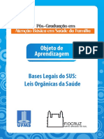 Bases legais do SUS - Leis orgânicas da saúde