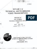 Skylab 1/4 Technical Air-To-Ground Voice Transcription Vol 3 of 7