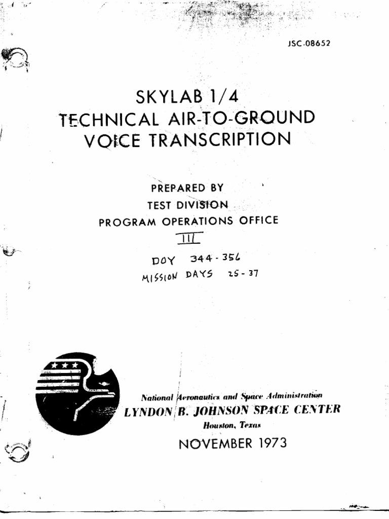 Skylab 1 4 Technical Air To Ground Voice Transcription Vol 3 Of 7 Tutorial Wiring Turn Signal Lights For Dummies 5784 Electromagnetic Spectrum Yom Kippur War