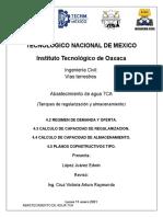 TANQUES DE REGULARIZACION Y ALMACENAMIENTO 4.1 - 4.5 LOPEZ JUAREZ EDWIN
