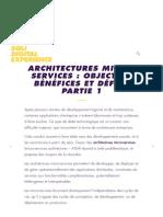 Architectures micro-services _ objectifs, bénéfices et défis - Partie 1
