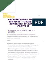 Architectures micro-services _ objectifs, bénéfices et défis - Partie 2