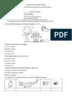 PRUEBA II DE LENGUAJE Y CIENCIAS NATURALES SEGUNDO DE BÁSICA
