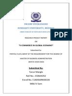 E-COMMERCE IN GLOBAL SCENARIO - TARUN MBA IT - IV SEM - SUBHARTI-converted