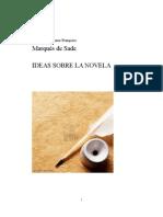Ideas sobre la novela - Marqués de Sade