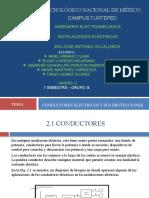 UNIDAD2,INSTALACIONES ELECTRICAS,TIPOS DE CONDUCTORES PRESENTACION