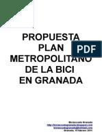 Propuesta Plan Metropolitano de la Bici en Granada