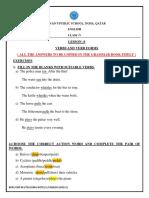Grade-5-Grammar verb and form
