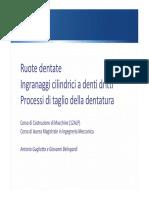 ruote dentate - processi di taglio 2015