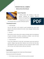 Presentation Skill Resume