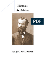 L'Histoire du Sabbat - J.N. ANDREWS