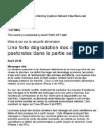Tchad - Mise à jour sur la sécurité alimentaire _ pouvoir d'achat 2018-04-30