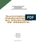 Suministro de medicamentos en situación de desastres