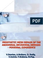 Experienta personala in tratamentul protetic al eventratiilor postoperatorii