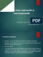 Securitate națională și internațională