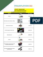 Catalogue Arduino Shop 01 2021