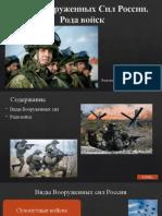 Виды Вооруженных Сил России. Рода войск.