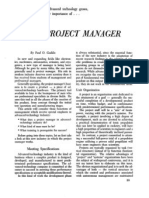 Gaddis - The_project_manager