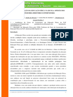 A DESVALORIZAÇÃO DA EDUCAÇÃO FÍSICA NA ESCOLA OPINIÃO DOS PROFESSORES, DIRETORES E SUPERVISORES.