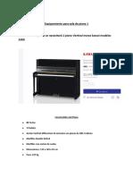 Equipamiento para sala de piano 1