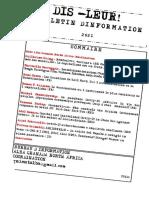Bulletin d Information 2021-  Dis-leur !  Réflexions d'anti- impérialistes- Guerre de classe et propagande de guerre dans un capitalisme en crise